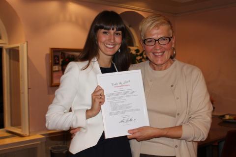 Caroline Bouzi, Årets FFLA -KTH i ständig utveckling i Take the Lead