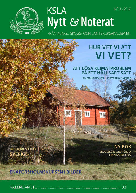 Ute nu: KSLA Nytt & Noterat nr 3-2017