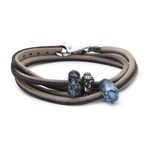 TLEBO-00080_Leather Bracelet Brown Light Grey