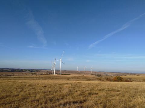 Inauguration du parc éolien de La Baume