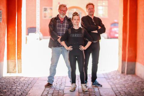 Regissörerna Björn Holmgren, Maja Danielsson och Martin Odd.