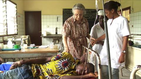 Lifeblood - inget barn ska behöva dö av diabetes, Dr de Clerck med patient