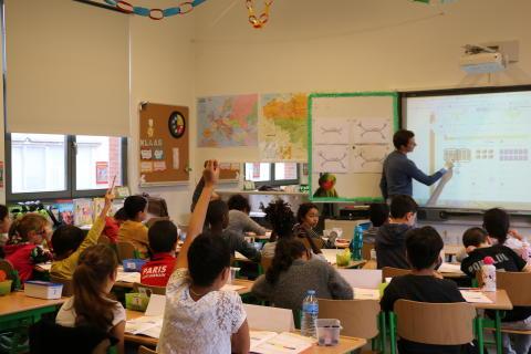 Lectoren en studenten AP Hogeschool nemen Parkschool Ieperman over
