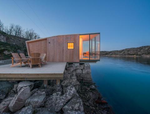 Die modernen Hütten bieten Platz für bis zu 4 Personen
