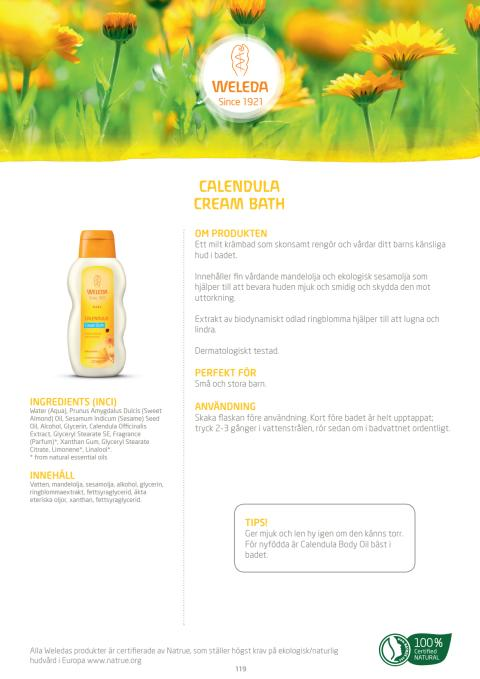 Calendula Cream Bath