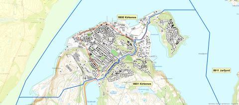 9900  Kirkenes - postnummerinndeling