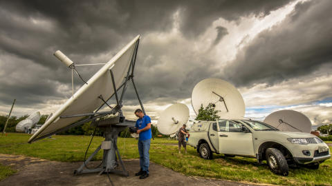 University students are given lessons in international communications - from deepest Herefordshire