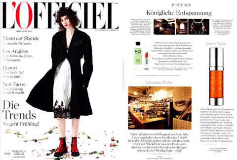 L'OFFICIEL Deutsch March/April 2016 - Nya stjärnan Transderma O
