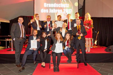 Preisverleihung 'Brandschutz des Jahres' 2017 - Die Gewinner