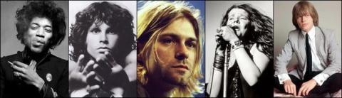 Fem döda rockstjärnor lockar entusiastisk publik