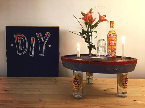 Ein echtes Unikat - der hochwertige Havana Club Upcycling-Tisch