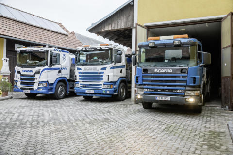 Drei Generationen: Scania Milchsammelfahrzeuge