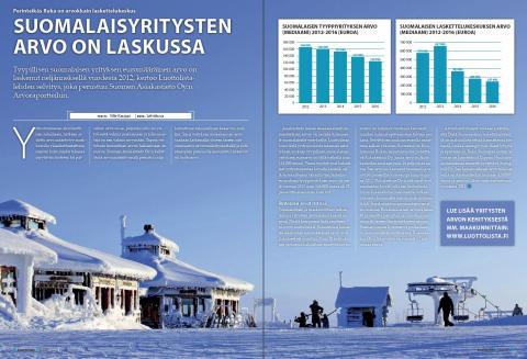 Luottolista.fi: Perinteikäs Ruka on arvokkain laskettelukeskus