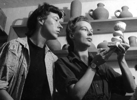 Gocken och Lisbet Jobs, 1944