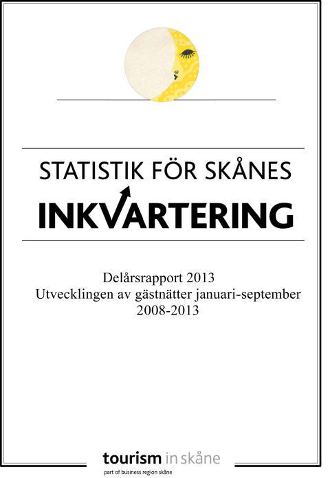 Rekordsiffror för gästnätter i Skåne 2013