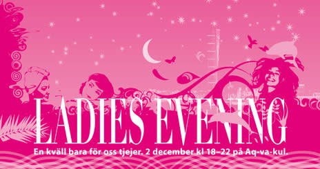 Ladies evening på Aq-va-kul 2 december