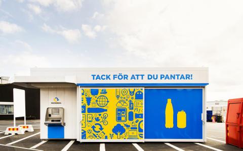 Express-panta på Ullstämma Återvinningscentral