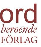Ordberoende Förlag - röd logotyp