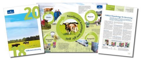 Norrmejerier redovisar sitt Hållbarhetsarbete   -  ett norrländskt kretslopp från hage till mage.