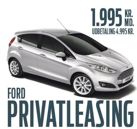 Privatleasing: Ford Fiesta til sensationel lav pris