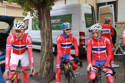 Alexander Kristoff, Torjus Sleen, Øyvind Hoe Skog under sykkel-VM 2014