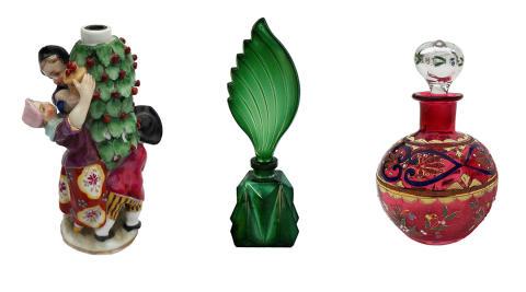 Flärdfulla flaskor i Design för doft på Malmö Museer