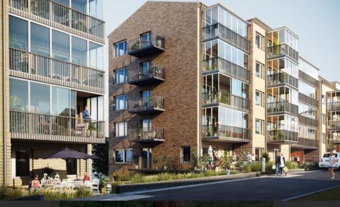 Byggstart för 79 seniorbostäder i Bonum Brf Guldmyntet i Högsbo