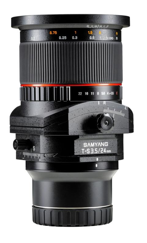 Samyang objektiv for Sony E fullformat 24mm T/S F/3,5