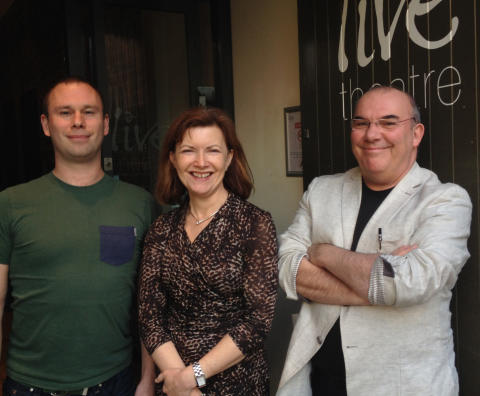 L-R Paddy Campbell, Lucy Winskell and Max Roberts