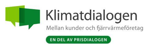 Nu startar Klimatdialogen mellan kunder och fjärrvärmeföretag