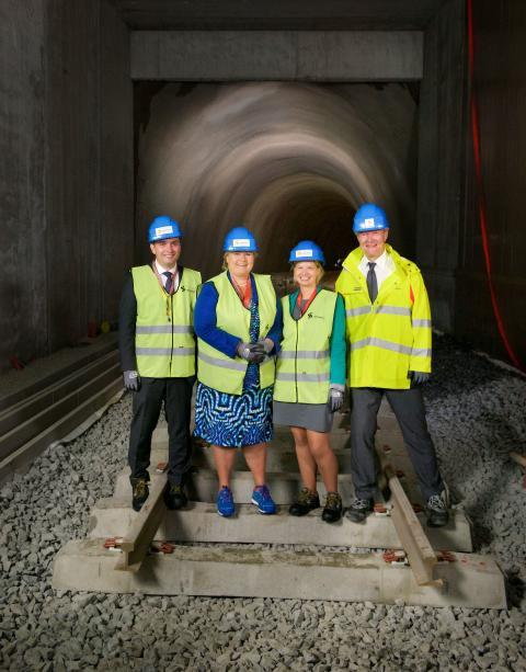 Statsministeren besøkte Sporveien på nye Lørenbanen