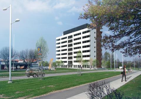 Betongen kommer från Starka när NCC bygger sitt nya kontor i Helsingborg
