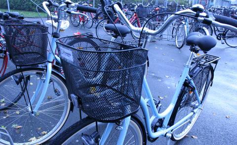 Miljövänliga tjänsteresor med nyöppnad cykelpool