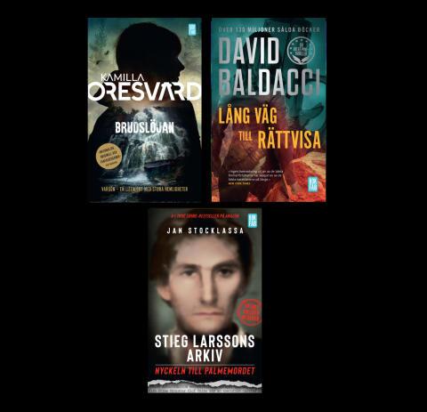 Stieg Larssons lösning på Palmemordet, första delen i ny hyllad deckarserie och Baldaccis nya huvudkaraktär – pocketnytt från Bokfabriken