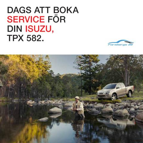 Isuzuprofilerad servicekallelse.