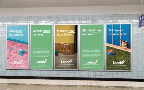 Tunnelbana, alla budskap, Lendo.