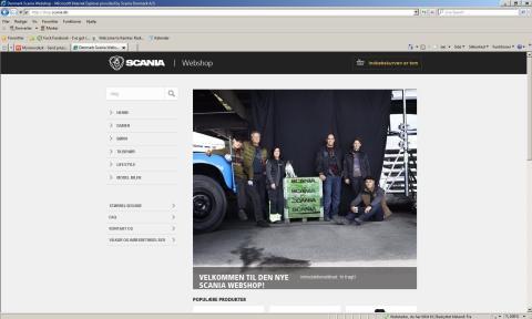 Scania lancerer ny webshop