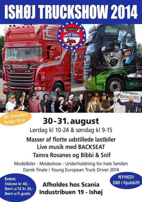 Invitation til Ishøj Truck Show 2014