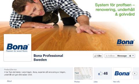 Bona på Facebook - både för den professionella hantverkaren och privatpersoner