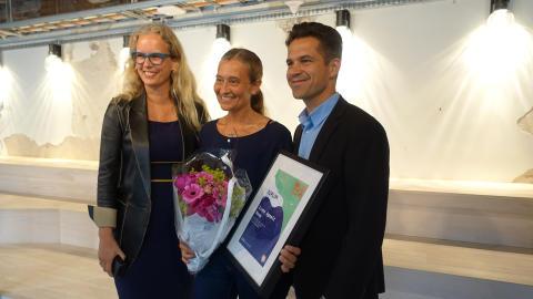 Vinner av årets frukt- og grøntambassadør Irene Agnalt, Rema