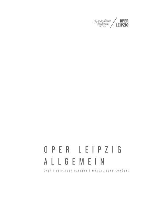 Oper Leipzig Allgemein