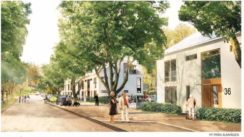 Gavlegårdarna ansöker om bygglov för 66 nya lägenheter på Almvägen i Gävle