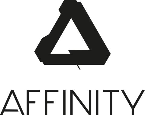 Affinity brand logo portrait for print