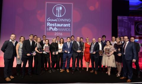 Casual Dining Restaurant & Pub Awards 2016: Winners announced