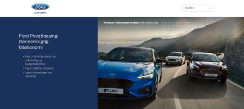 Privatlease ny Ford Focus familiebil fra 2.295 kr/mdr