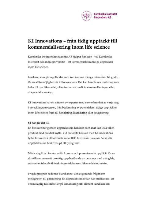 Fakta om KI Innovations AB