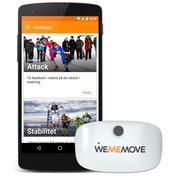 WeMeMove-appen med sin rörelsesensor.