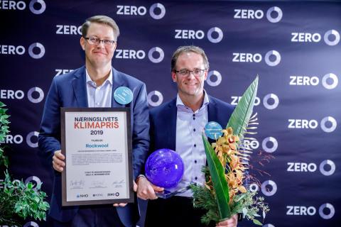 Næringslivets klimapris ble tildelt ROCKWOOL på Zero-konferansen
