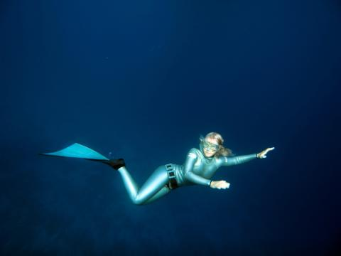 Freediving is freedom, Annelie Pompe