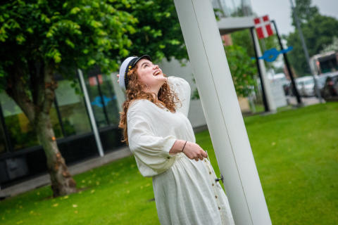 Efter en eksamen i dansk, blev Christina den første student på Tradium.